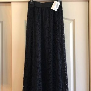 Lularoe black lace Lucy sz 2xl